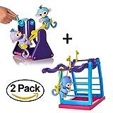 Khfun Finger Monkey Swing Set + Monkey Seesaw For Finger Monkey Kids Gift