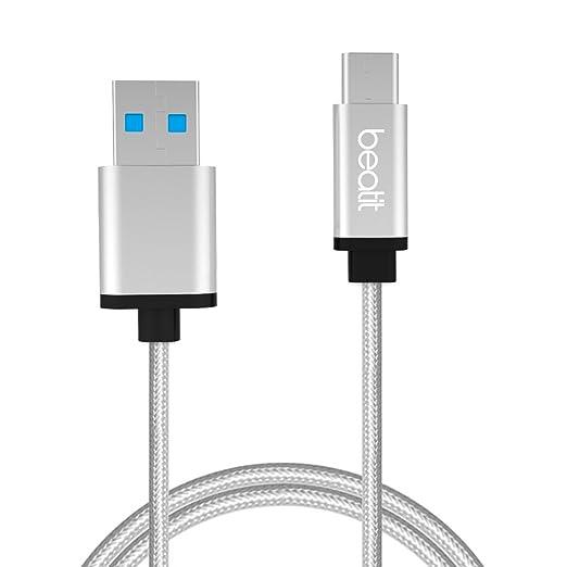 13 opinioni per BEATIT USB tipo C cavo – durata garanzia – Nylon intrecciato USB C cavo ricarica