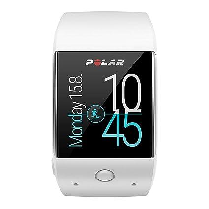 Polar M600 Smartwatch con GPS Integrado y Pulsómetro de Muñeca, Unisex Adulto, Blanco, M/L