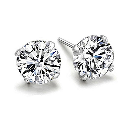 Sterling Silver 3d Rhodium Plated - 8