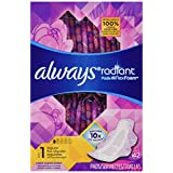 Always Radiant Pads, Size 1, Light Clean Scent, Regular, 42 Count