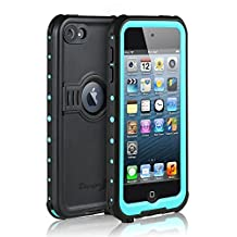 Waterproof Case for iPod 6/iPod 5, E-fashion Knight Series Waterproof Shockproof Dirtproof Snowproof Case Cover With Kickstand For iPod Touch 5th/6th Generation