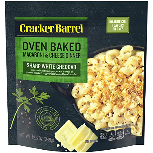 Cracker Barrel Oven Baked Sharp White Cheddar Macaroni & Cheese 12.3 oz