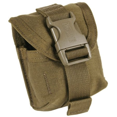 BLACKHAWK! S.T.R.I.K.E. Single Frag Grenade Pouch with Speed Clips, Coyote Tan