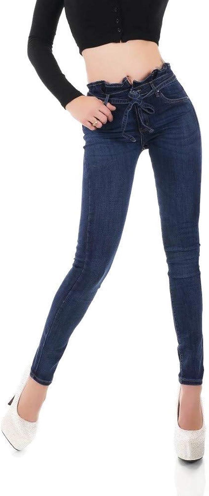 Noir Triple XXX Womens Skinny Low Waist Jeans Slim Stretch Denim Pants Sizes UK 4-12