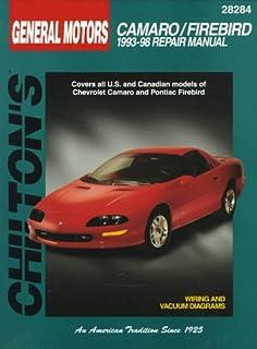 gm camaro and firebird 1993 2002 haynes repair manuals chilton rh amazon com 89 Camaro 96 Camaro
