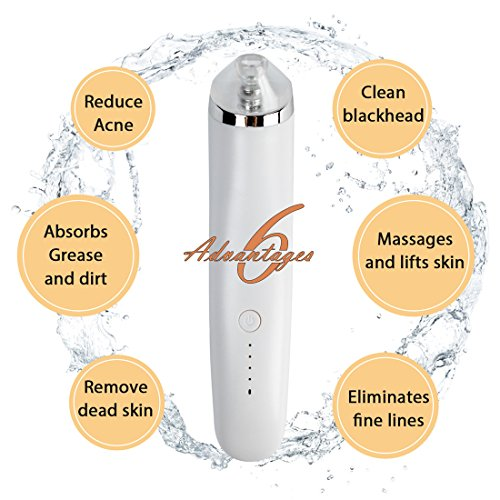 Blackhead Remover, Bauttf Electric Blackhead Vacuum Suction Remover, Acne Comedone Extractor Tool Set, Skin Facial Pore Cleaner, Comedo Microdermabrasion Exfoliating Machine by Bauttf (Image #5)
