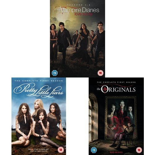 The Vampire Diaries Seasons 1-6, Pretty Little Liars Season 1 and The Originals Season 1 DVD Bundle