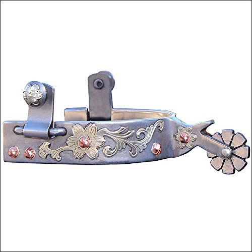 Professional S Choice Floral Copper Dot Chap Guard Spur Pewter