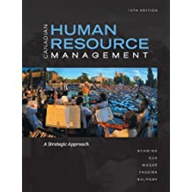 Canadian Human Resource Management with Connect Access Card: A Strategic Approach by Hermann Schwind (2013-01-14)