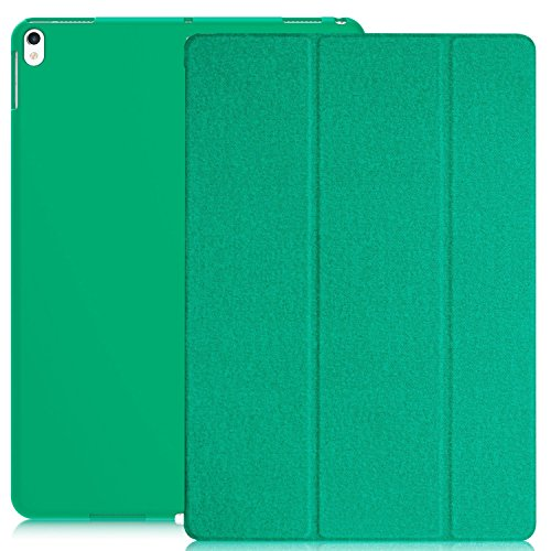 (KHOMO iPad Pro 10.5 Inch & iPad Air 3 2019 Case - DUAL Twill Green Super Slim Cover with Rubberized back and Smart Feature)