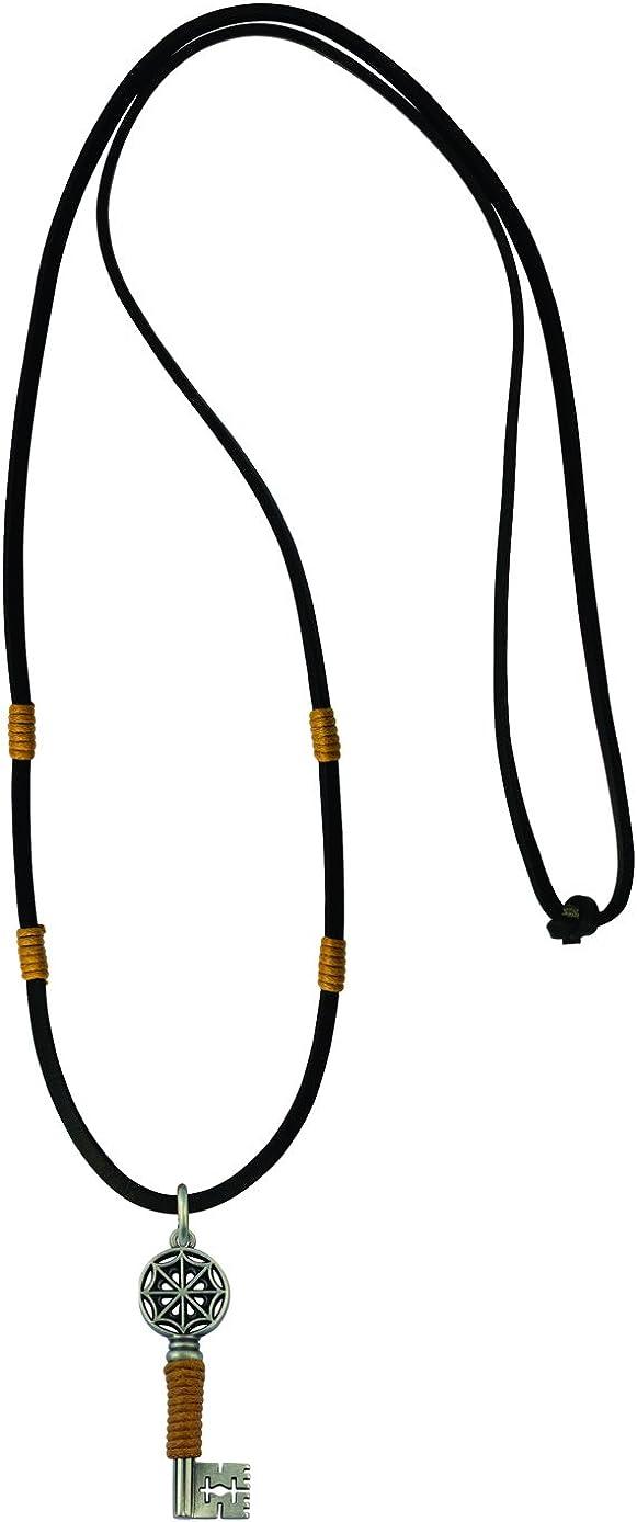 / /es la clave para su alma Bico Raw y piel de color negro collar colgante de portero ra1p2/C