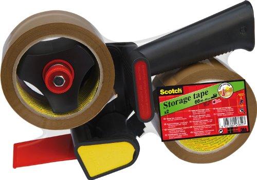 Scotch 309R2D Handabroller (2 Rollen Verpackungsklebeband, Gesamtdicke: 50 mm x 66 m) braun