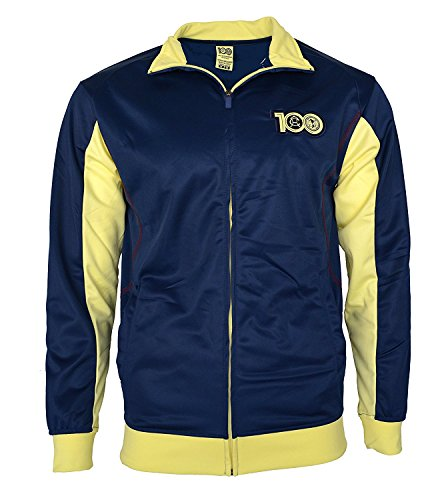 Boys Zip Front Track Jacket - Club America Track Jacket Youth Boys Zip Front (YL, Navy)