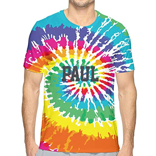 Make Your Own Colorful Tie Dye T Shirt Custom Mens Short Sleeve Tee Shirt for Hippie Theme Party - Dye Shirt Tie Custom
