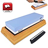 Premium Knife Sharpening Stone Kit 2 Side 1000/6000 Grit Whetstone Deal