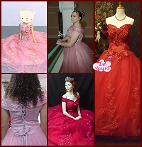 bf7509a4dba LEJY Women s Off The Shoulder Quinceanera Dresses Applique Masquerade Ball  Gowns Prom Dresses