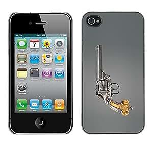 Cubierta de la caja de protección la piel dura para el Apple iPhone 4 / 4S - Space