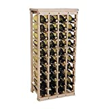 40 bottle Wooden Wine Rack (Unfinished Pine)(38″h X 17″w X 10.5″d) For Sale
