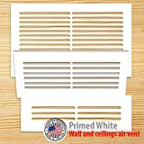 wooden air vents - Unfinish primed White wood vent cover Duct opening size 13