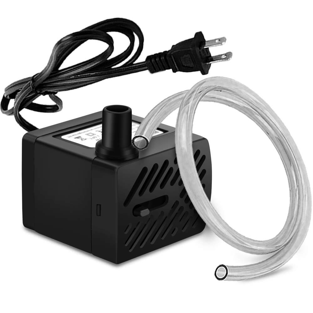 50GPH 3W Mini Submersible Water Pump for Aquariums, Fish Tank,Wave Maker Pump, Pond, Fountain, Hydroponics