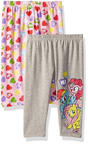 My Little Pony Girls' Toddler 2 Pack Leggings, Pink -