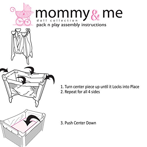Mommy Me 3 In 1 Doll Play Set 1 Doll Pack N Play 2 Doll Bouncer 3