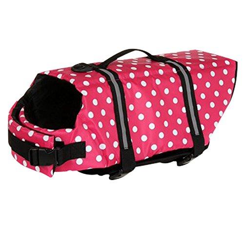 Kaimao Dog Life Presever Jacket Vest Coat Lifesaver - Pink, S