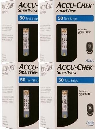 Accu-Chek Smart View Test Strips 200 Ct Bundle Deal Savings (Accu Chek Smartview Test Strips 100 Count)
