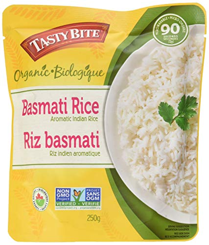 Tasty Bite Organic Basmati Rice 8.8 Ounce (Pack of 6), Indian-Style Organic Basmati Rice, Fully Cooked, Ready to Serve, Microwaveable, Vegan Gluten-Free No -