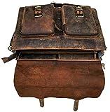 Cuero Retro Buffalo Hunter Leather Laptop Messenger