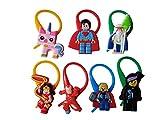 AVIRGO 7 pcs Colorful Soft Zipper Pull Charms for Jacket Backpack Bag Pendant Set # 131 - 4