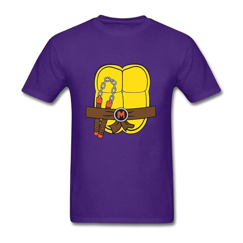 Cute Men's Teenage Mutant Ninja Turtles Bag Tool 100% Cotton Short Sleeve T Shirt Purple XS Tees Shirt