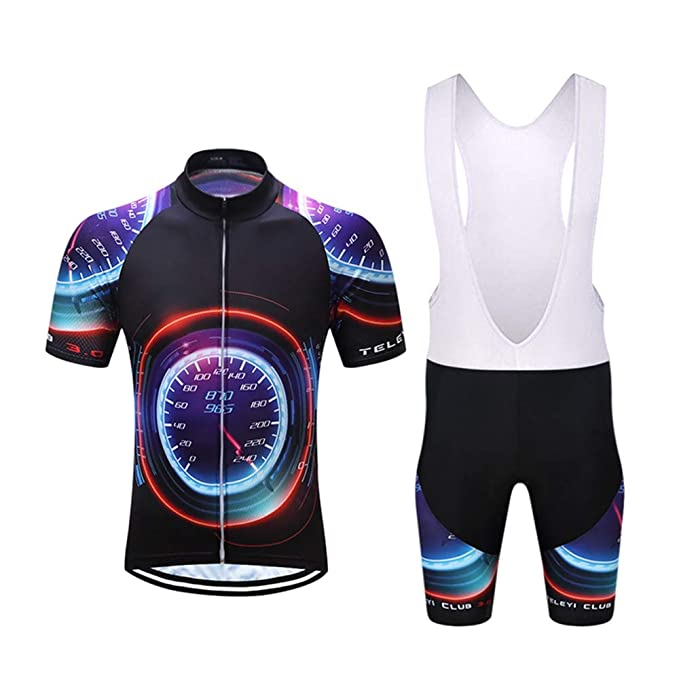 Black Rider Cycling Bike Short Sleeve Clothing Set Jersey Bib Shorts S-3XL