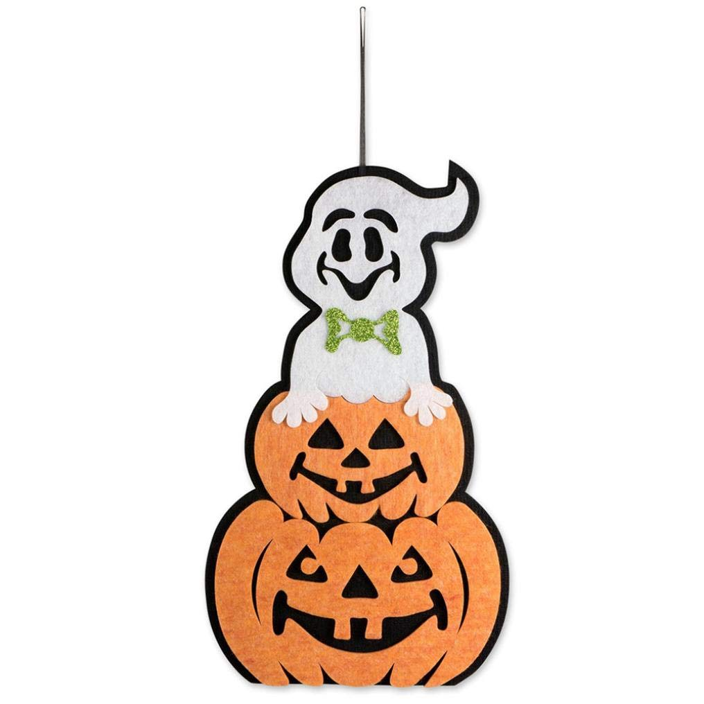 Halloween Indoor and Outdoor Hanging Door Decorations and Wall Signs Scary Party Supplies (E) by Coerni (Image #1)