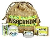 organ soap company - Nova Scotia Fisherman - Stem to Stern Pack with Mini Soap, Lip Balm, Hand & Body Cream, Rescue Balm - 4 Piece(s)
