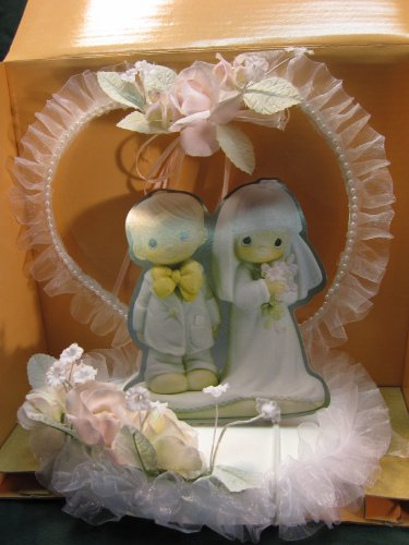 - Precious Moments Heart and Tulle Cake Topper. Figurine Is NOT Included. #434361