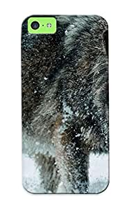 800dbde1185 Wolf In The Snow Protective Case Cover Skin/iphone 5c Case Cover Appearance by lolosakes