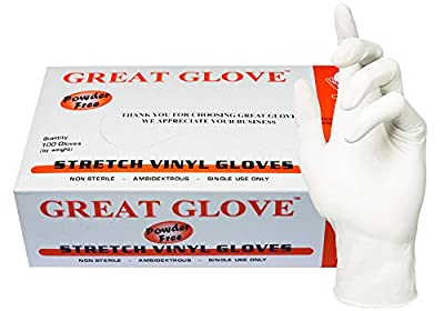 GREAT GLOVE Stretch Vinyl Food Service Grade Multi-Purpose Gloves