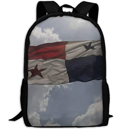 jhguihuyftyrtytgjkh Flag of Panama In Blue Sky Adult Travel Backpack School Casual ypack Oxford Outdoor Laptop