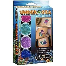 Under the Sea Glitter Tattoo Kit - Temporary Tattoos & Body Art