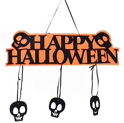CHOP MALL®Happy Halloween Home Décor Welcome Sign for Halloween Party