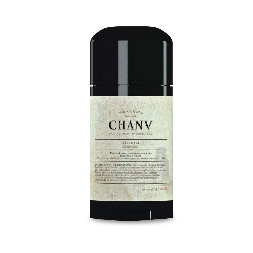 Chanv Natural Deodorant (Men and Women) Aluminum-Free Stick | Vegan Friendly Underarm Antiperspirant for Sensitive Skin | Non-GMO, Phthalate and Paraben Free