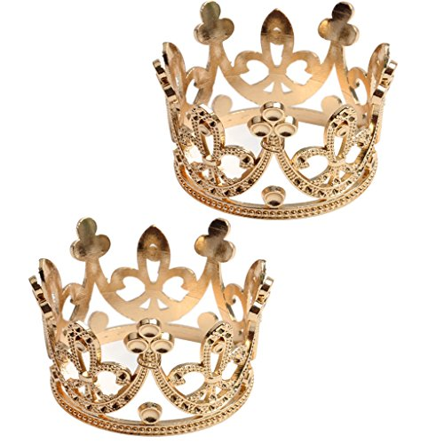 2Pcs Crown Cake Topper...