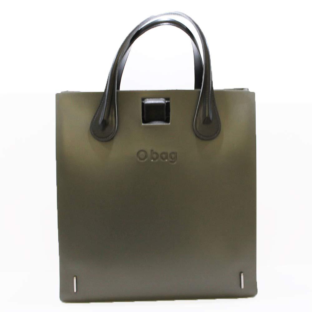 OBAG - Bolso mochila de Caucho para mujer Verde Verde 33x35x15cm: Amazon.es: Zapatos y complementos