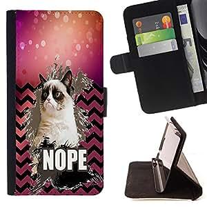 King Case - FOR Apple Iphone 5 / 5S - Take away love - Prima caja de la PU billetera de cuero con ranuras para tarjetas, efectivo Compartimiento desmontable y correa para la mu?eca