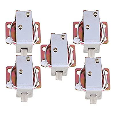 CNBTR Energy Saving DC6V TFS-A11 Electric Lock Assembly Solenoid for Cabinet Door Set of 5