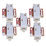 Yibuy 5 PCS TFS-A11 Chrome Durable Electric Lock Assembly Solenoid DC6V 0.35-0.476A