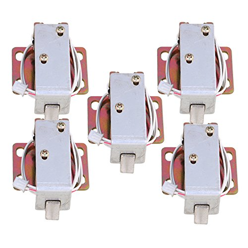 CNBTR Energy Saving DC6V TFS-A11 Electric Lock Assembly Solenoid for Cabinet Door Set of 5 by CNBTR
