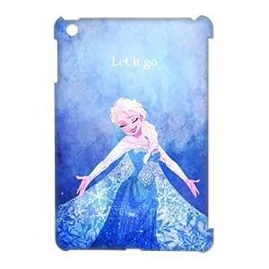 3D Bloomingbluerose Elsa IPad Mini Case Elsa,let it Go, {White}